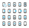 Smartphone / mobile or cell phone icons set Royalty Free Stock Photo