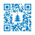 Smartphone readable QR code Merry Christmas with xmas tree icon Royalty Free Stock Photo