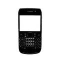 Smartphone white screen qwerty keypad isolated. Stock Images