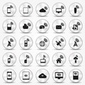 Smartphone wi fi icon hotspot buttons illustrated with illustrator cs and eps vector with transparency Stock Photography