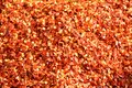 Smashed chili pepper red chilli at the market background Royalty Free Stock Images