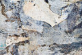 Smashed papers abstract image grunge ragged background Royalty Free Stock Photos