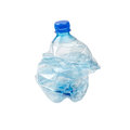 Smashed Plastic Bottle Stock Photography