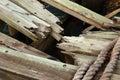Smashed Wood Royalty Free Stock Photo