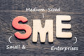 SME Small and Medium-Sized Enterprises Royalty Free Stock Photo
