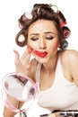 Smeared makeup Royalty Free Stock Photo