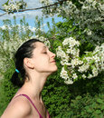 Smell the feeling of nature Royalty Free Stock Photo