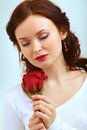 Smell of rose Royalty Free Stock Photo