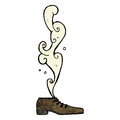 Smelly old shoe cartoon Royalty Free Stock Images