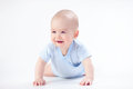 Smile baby in blue Royalty Free Stock Photo