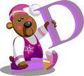 Smile bear with letter D Stock Images