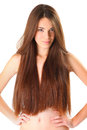 Smile beautiful young woman with long hair Royalty Free Stock Photos