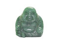 Smile buddha isolated on white or kasennen is lucky adore thing background Stock Photo