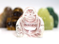 Smile buddha on white or kasennen is lucky adore thing background Stock Image