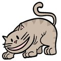 Smile cat funny draw of Royalty Free Stock Photography