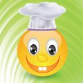 Smile in chefs hat colorful illustration with for your design Stock Photography