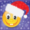 Smile in a christmas hat colorful illustration with for your design Stock Photo