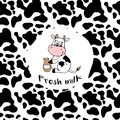 Smile cow and texture pattern repeated seamless Royalty Free Stock Photo