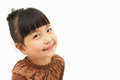 Smile of a cute asian girl isolated on white background Royalty Free Stock Photo