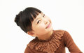 Smile of a cute asian girl isolated on white background Stock Photo