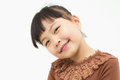 Smile of a cute asian girl isolated on white background Stock Photography