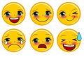 Smile emoticons set Royalty Free Stock Photo