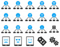Smile, emotion, relations and tablet icons