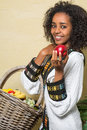 Smile from Ethiopian woman Stock Photos