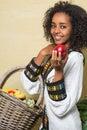 Smile from Ethiopian woman Stock Photos