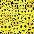 Úsmev bezšvový vzor