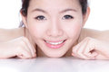 Smile face of a woman with health skincare Stock Photography