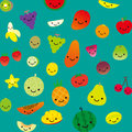 Smile fruits a variety of vector collection Royalty Free Stock Image