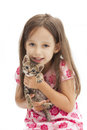 Smile girl with a cat Royalty Free Stock Image
