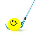 Smile golf club isolated Royalty Free Stock Image