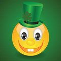 Smile on green background colorful illustration with for your design Royalty Free Stock Photo