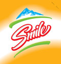 Smile hand lettering (vector) Royalty Free Stock Image