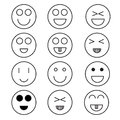 Smile icon minimal style Icon vector Eps10 set