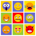 Smile icon. Smiley faces expressing different feelings.