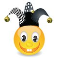 Smile in a jester hat colorful illustration with for your design Royalty Free Stock Photo
