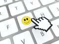 Smile on keyboard Royalty Free Stock Photography