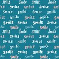 Smile lettering seamless pattern. Hand drawn sketched calligraphic signs, grunge textured retro badge, Vintage typography design p