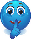 Smile offers silent stock image blue smiley quiet Royalty Free Stock Photo