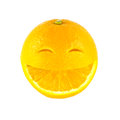 Smile orange on white background Stock Photography