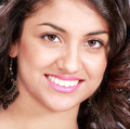 Smile perfect face closeup of beautiful woman Royalty Free Stock Photos
