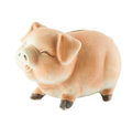 Smile piggy bank or money box isolated on white background Royalty Free Stock Photos