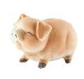 Smile piggy bank or money box isolated on white background Royalty Free Stock Photos