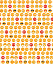 Smile seamless pattern. Emotions background. Yellow round emotion smiles seamless texture. Vector illustration Royalty Free Stock Photo
