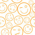 Smile seamless pattern new orange vector illustration Stock Image