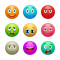Smile set, balls Royalty Free Stock Photo