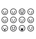 Smile set of icon set Stock Images